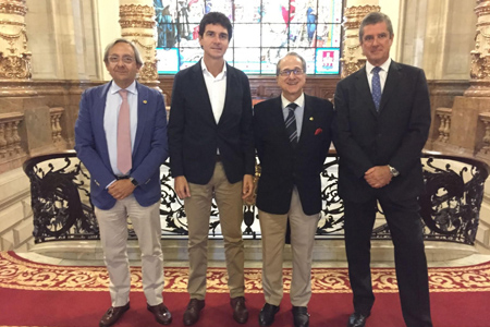 Juan Ignacio Goiria, Unai Rementería, Ricardo Franco Vicario, y Víctor Etxenagusia