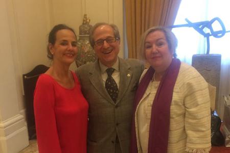 Magdalena Múgica, Ricardo Franco Vicario y Carmen Miral