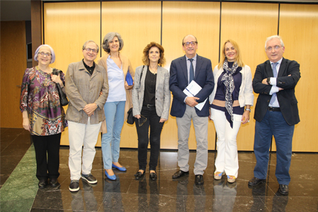 Maite Feito, Ricardo Franco Vicario, María José García Etxaniz, Nekane Murga, Cosme Naveda, Agurtzane Ortiz y Jacinto Bátiz