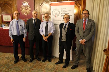 Carlos Catalán, Joseba Vidorreta, Salvador Peiró, Ricardo Franco y Roberto Nuño, antes de comenzar la jornada