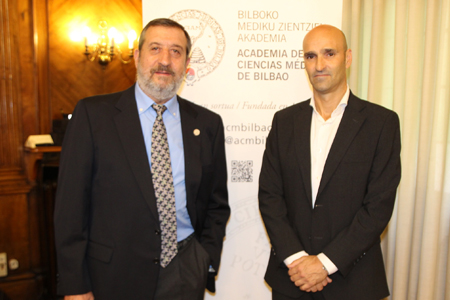 Los doctores Ángel Barba y Francisco Javier García Bernal