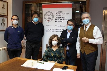 Jon Ander Atucha, Alberto Martínez, Isabel urrutia, Mikel Grau y José Luis Neyro